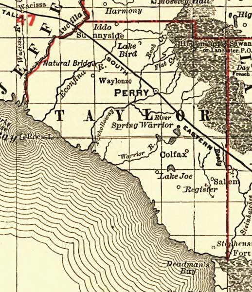 Florida Railroads Taylor County 1900