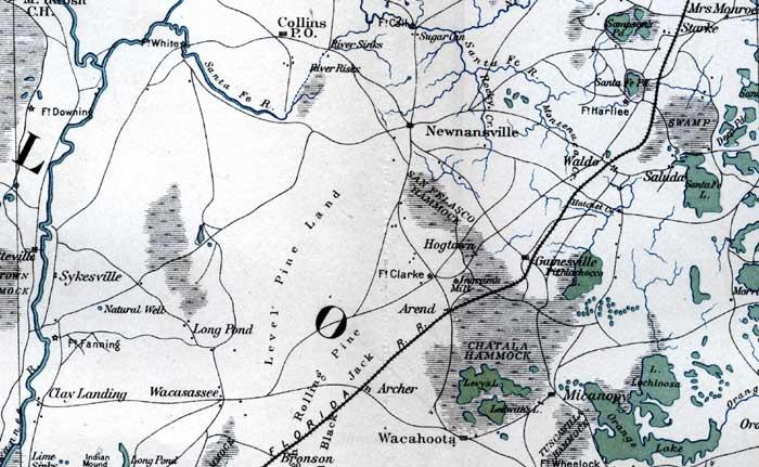 Alachua County Map County Alachua Alachua County