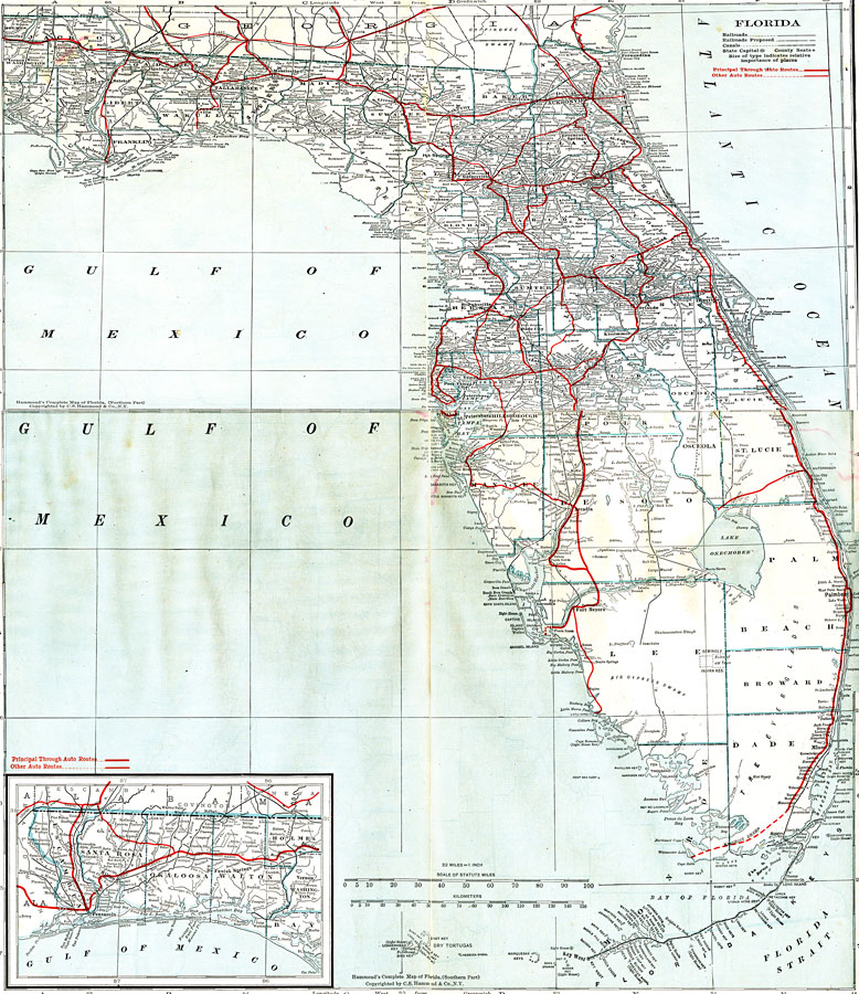 North and Central Florida, 1917