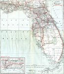 Central Florida County Map.Florida State Maps 1900 1919