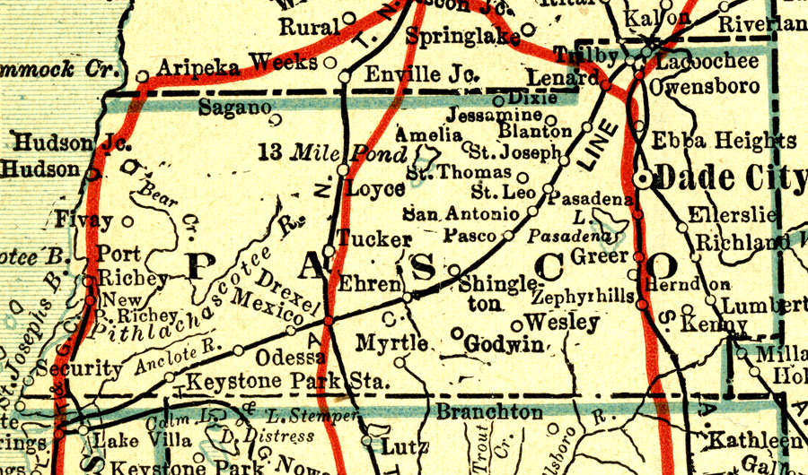 Map Of Cities In Pasco County Fl