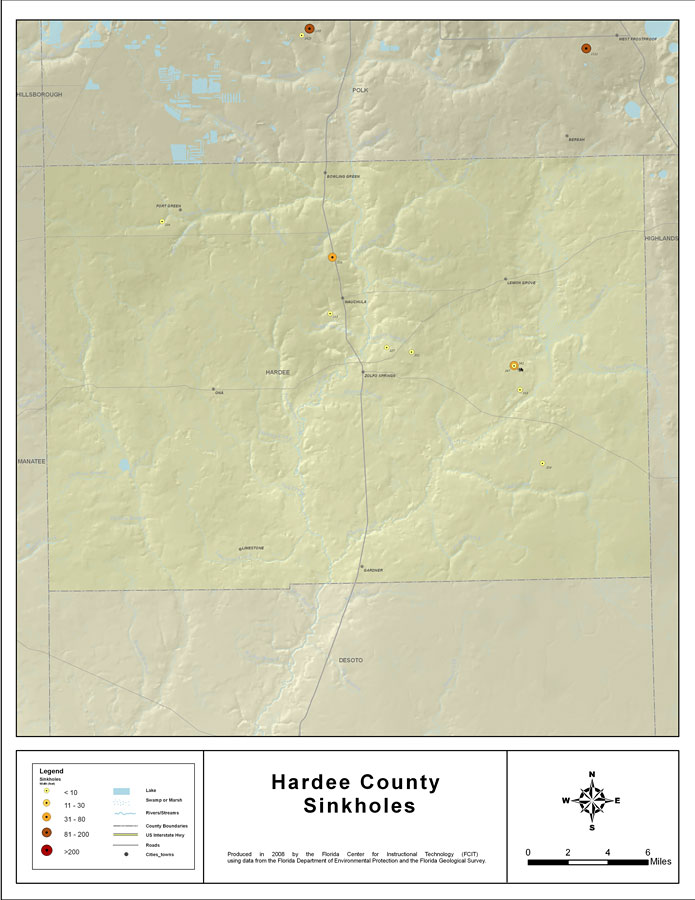 Sinkholes Of Hardee County Florida 2008