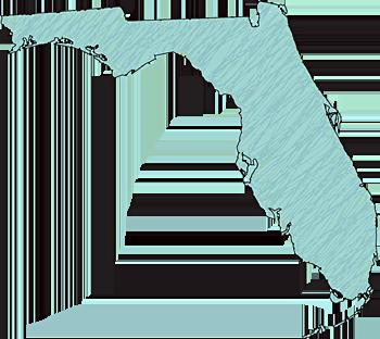 "Florida ""Abstract"" Style Maps: #01 Aqua Scribble"