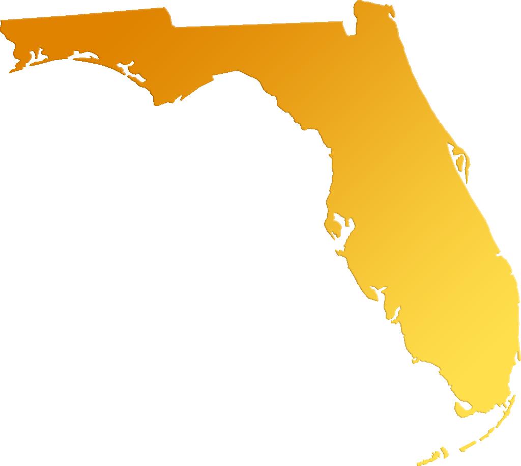 "Florida ""Abstract"" Style Maps: #30 Yellow-Orange Gradient"