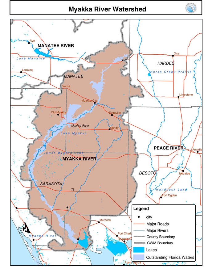Myakka City Florida Map.Myakka River Watershed N D