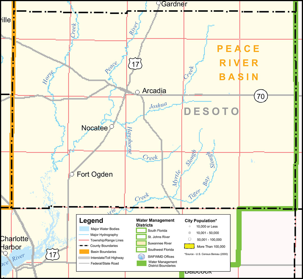 Map Of Arcadia Florida.Southwest Florida Water Management District Desoto County