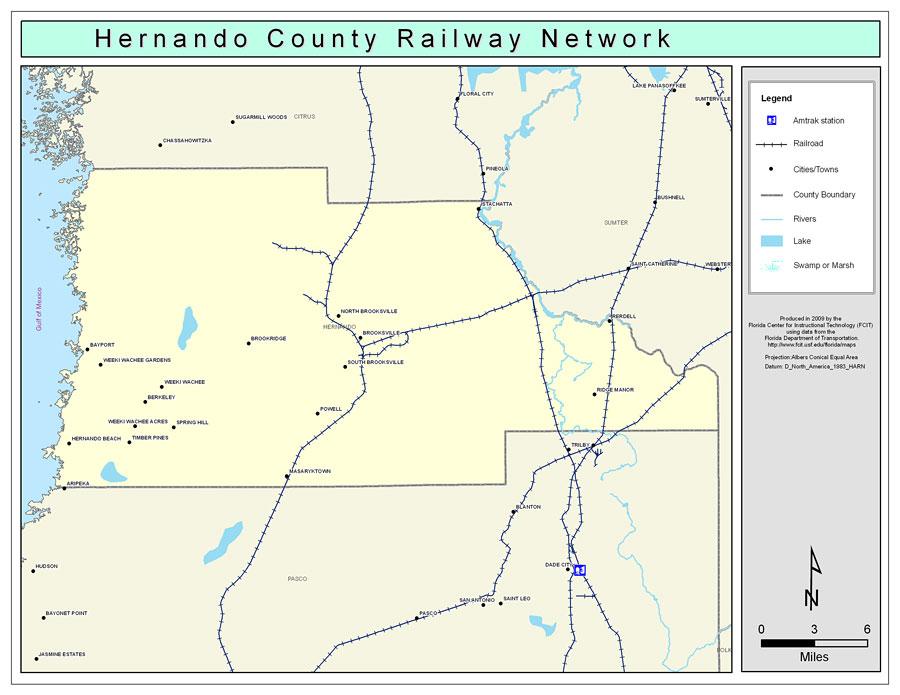 Hernando County Railway Network Color 2009