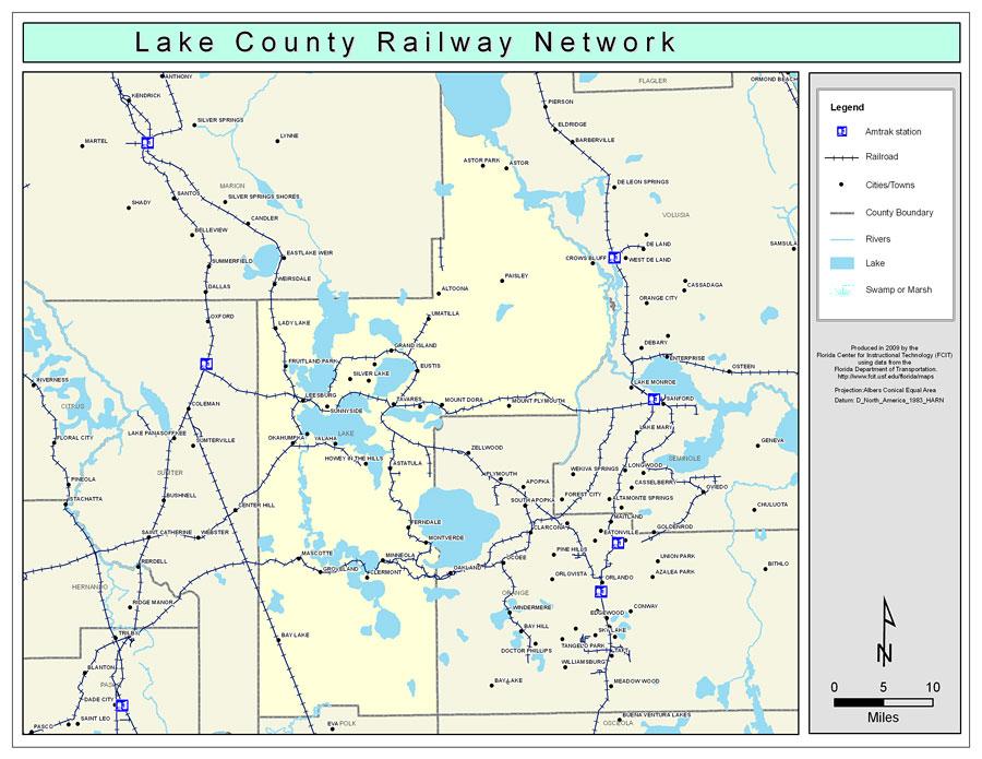 Lake County Railway Network Color 2009