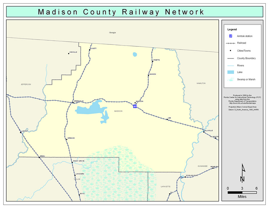 Madison County Railway Network Color 2009