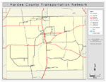 This Is A Color Road Map Of Hardee County 2009 It Shows The Location Of Many Roads Including Us 17 Cities And Towns And Inland Water