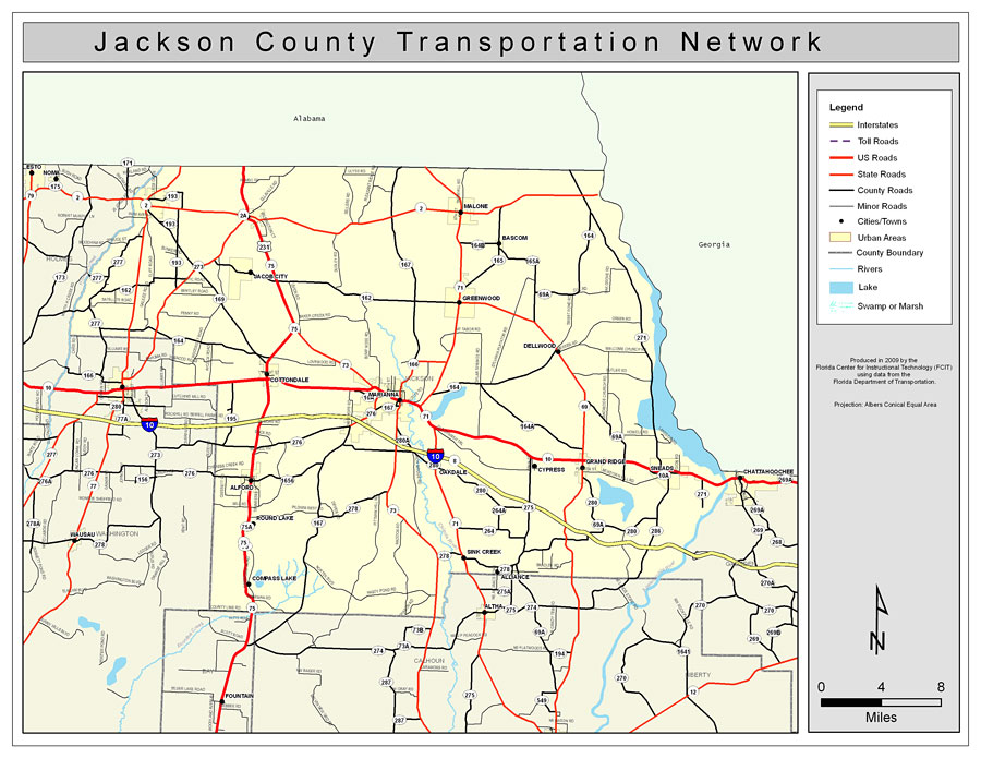 Jackson County Road Network- Color, 2009