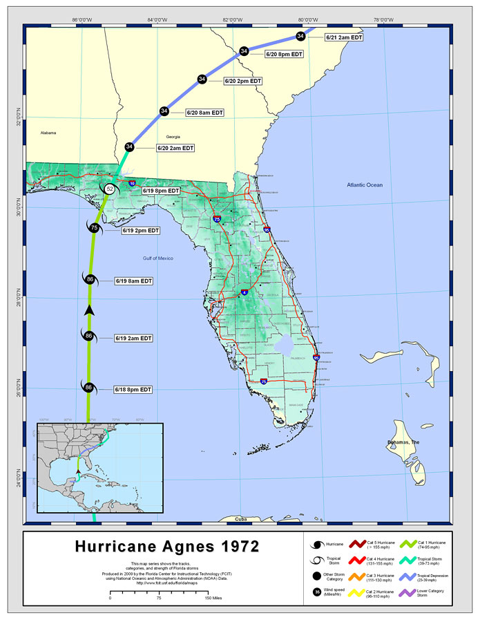 Hurricane Agnes Affected Areas Car Insurance Cover