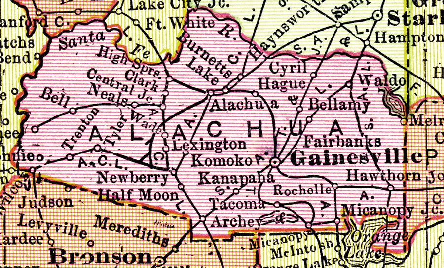 Alachua County Map Alachua County Map