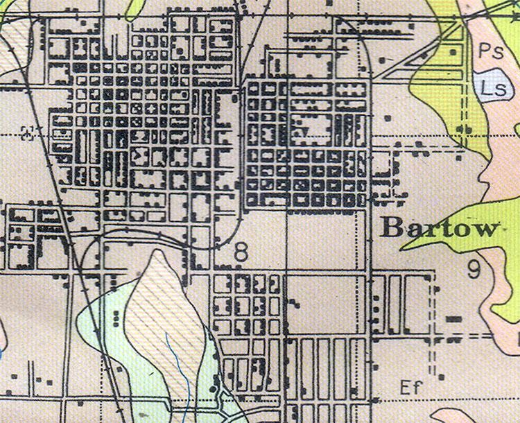 Bartow Florida Map.Bartow Florida 1927
