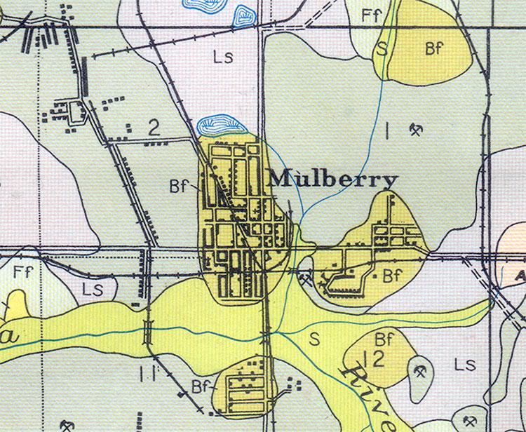 Mulberry Florida Map.Mulberry Florida 1927