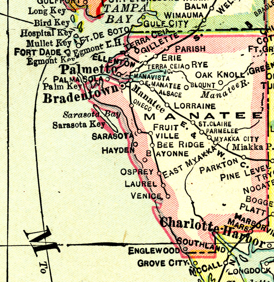 Myakka City Florida Map.Manatee County 1916