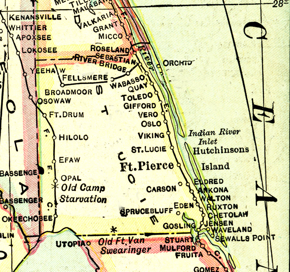 Map Of St Lucie County Florida.St Lucie County 1916