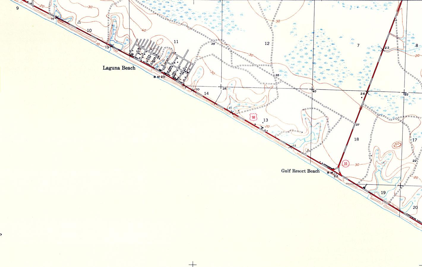 Laguna Beach Florida Map.Laguna Beach Florida 1943