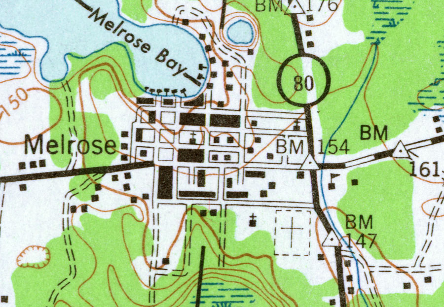 Melrose Florida Map.Melrose 1943
