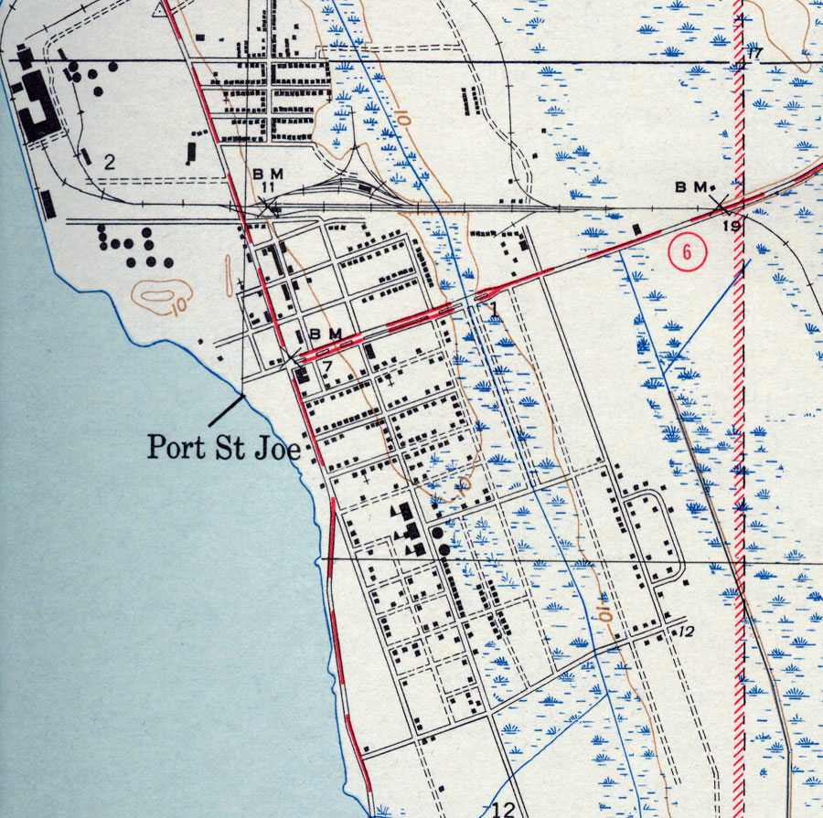 Map Of Port St.Joe Florida Port St. Joe, 1943