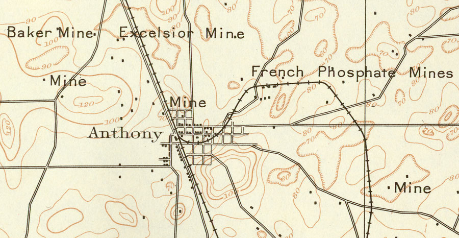 Anthony And Surrounding Mines 1893