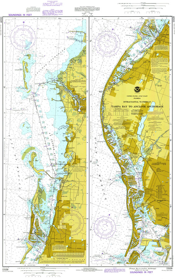 Intercoastal Waterway Tampa Bay To Anclote Anchorage 1977