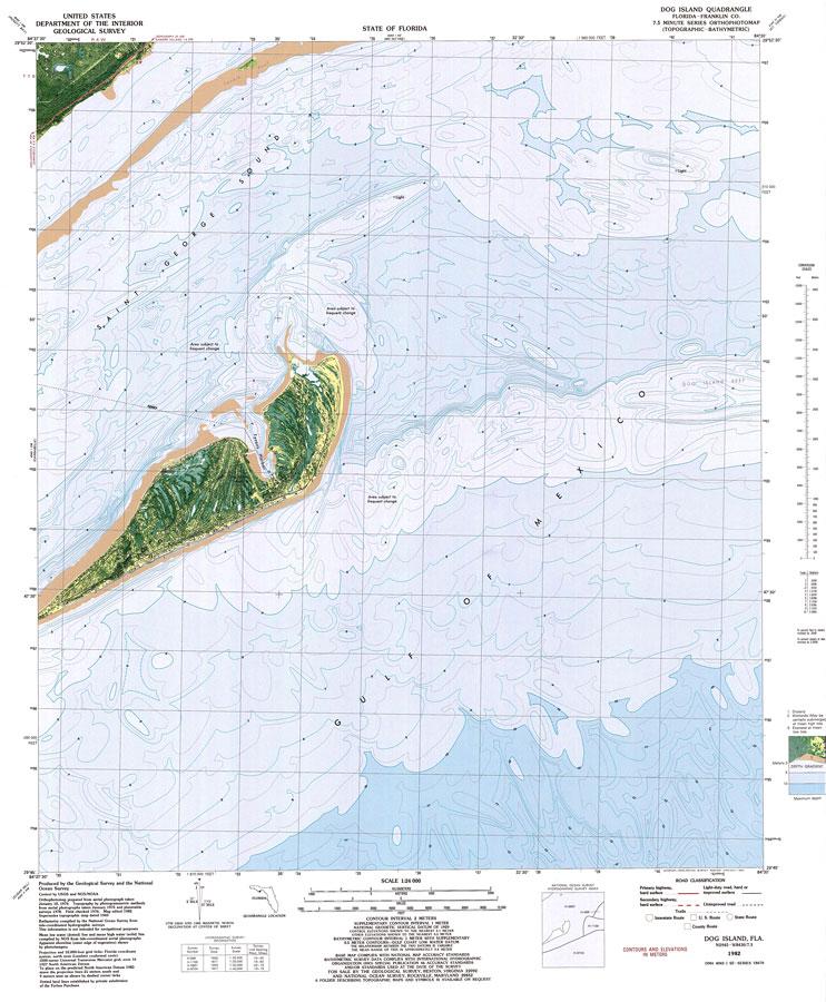 Dog Island Florida Map.Dog Island 1982