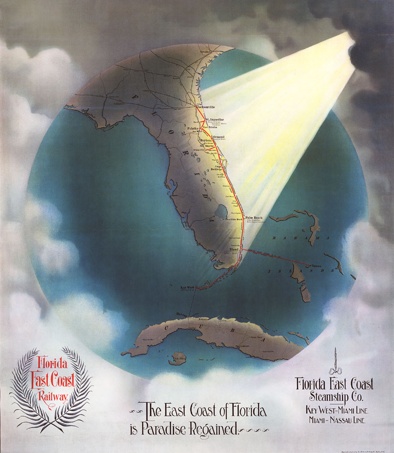 Maps Of Florida.The East Coast Of Florida Is Paradise Regained 1898