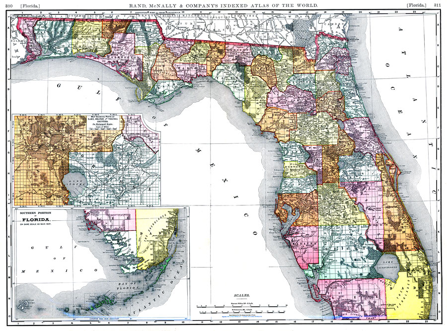 Florida Section Township Range Map Florida, 1898