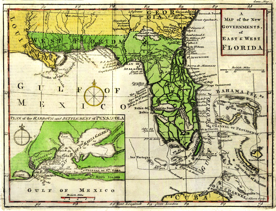 West Florida Map.A Map Of The New Governments Of East And West Florida 1763
