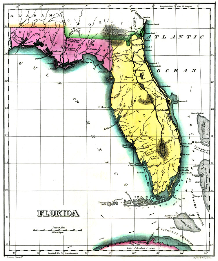 Geographical, Statistical, and Historical Map of Florida No ... on text map, history map, key map, city map, country map, longitude map, global coordinates map, gps coordinates map,