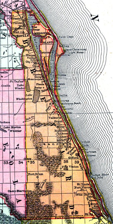 Brevard County Florida Map.Brevard County 1898 Ad