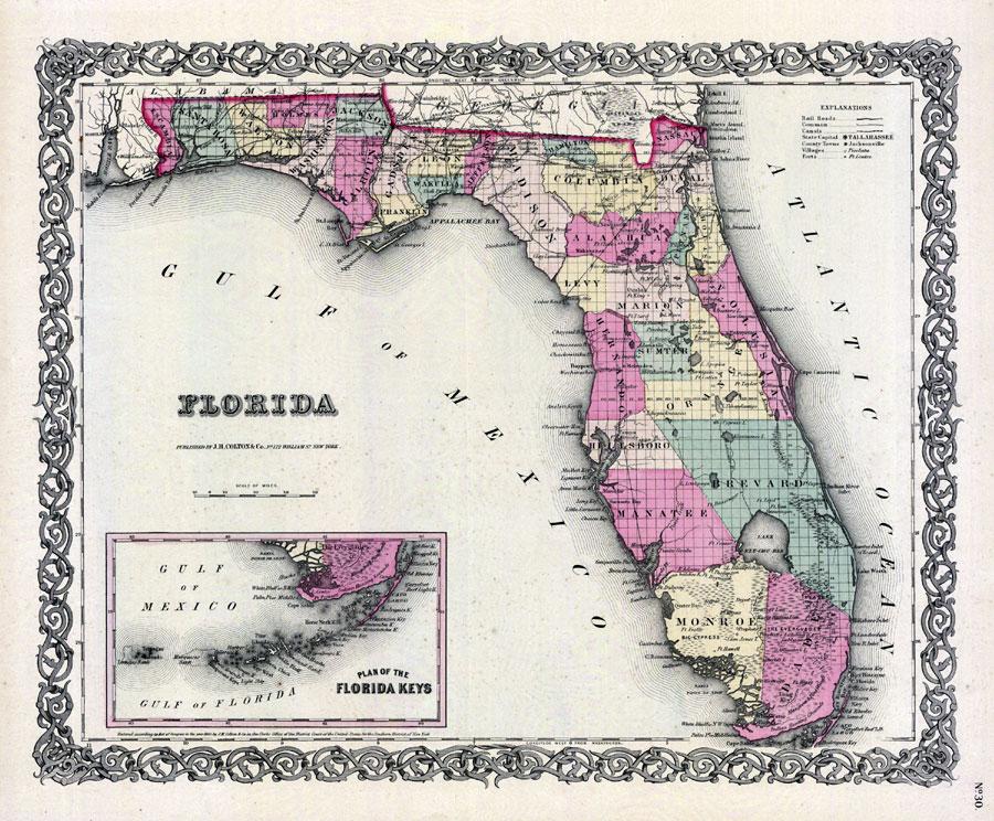 florida map township range