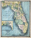 Florida Map With Counties And Cities.Florida State Maps 1900 1919