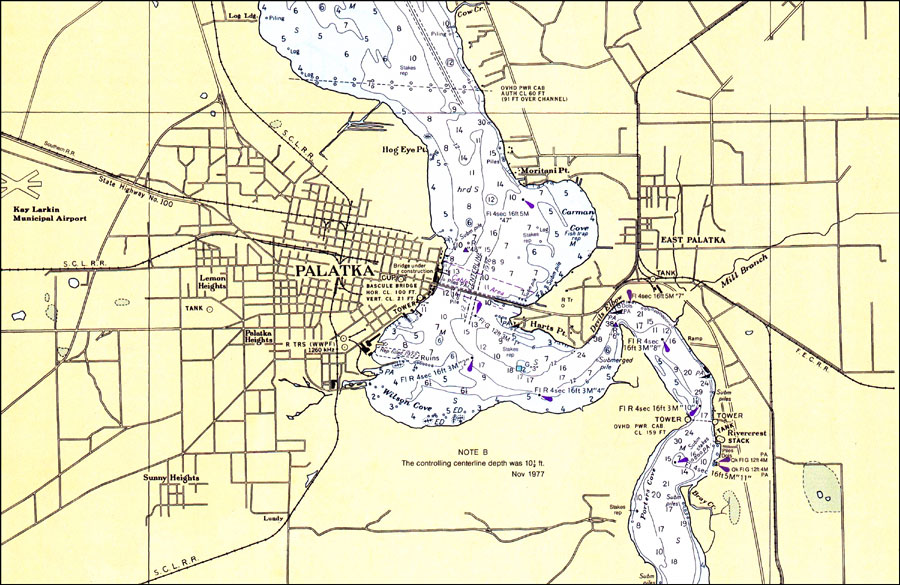 St. Johns River: Palatka, 1980 on saint francis river map, lower john day river map, oregon river map, potomac river map, south branch river map, saint clair river map, salem river map, saint john's florida map, st. louis river map, ice in st. clair river map, saint joe river map, susquehanna river map, st. lawrence river on us map, united states river map, saint lawrence river map, elizabeth river map, st. mary river florida on map, vicksburg river map, saint augustine river map, ohio river map,
