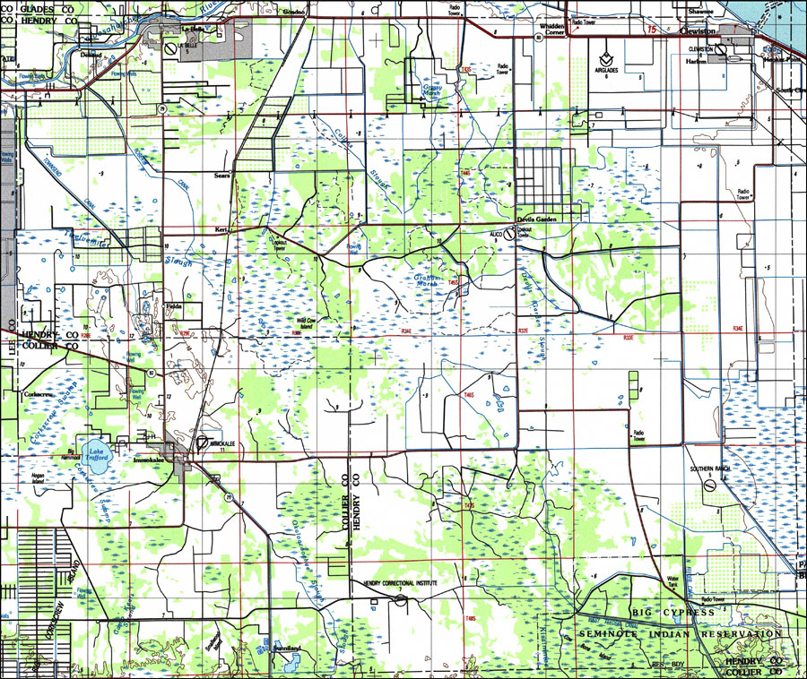 Florida County Map Google.Hendry County Florida 1987