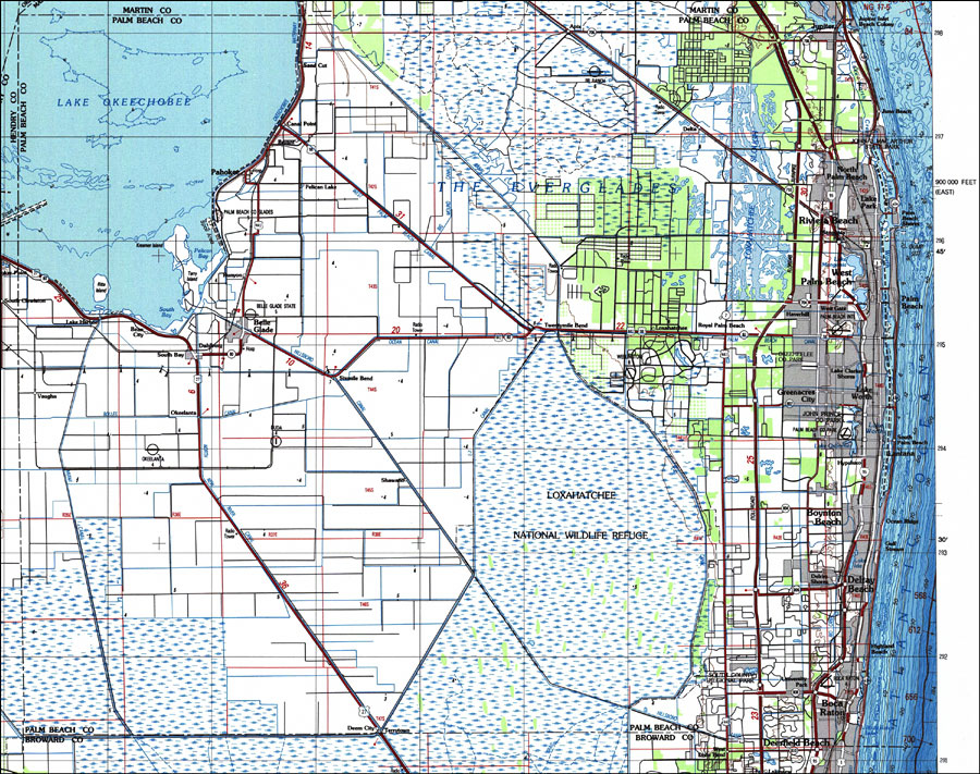 Florida County Map Google.Palm Beach County Florida 1987