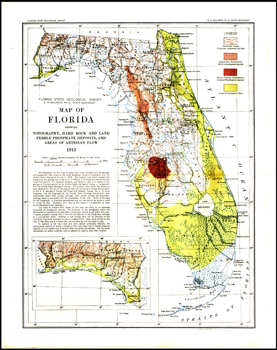 Geological Map Of Florida - Florida map ft myers