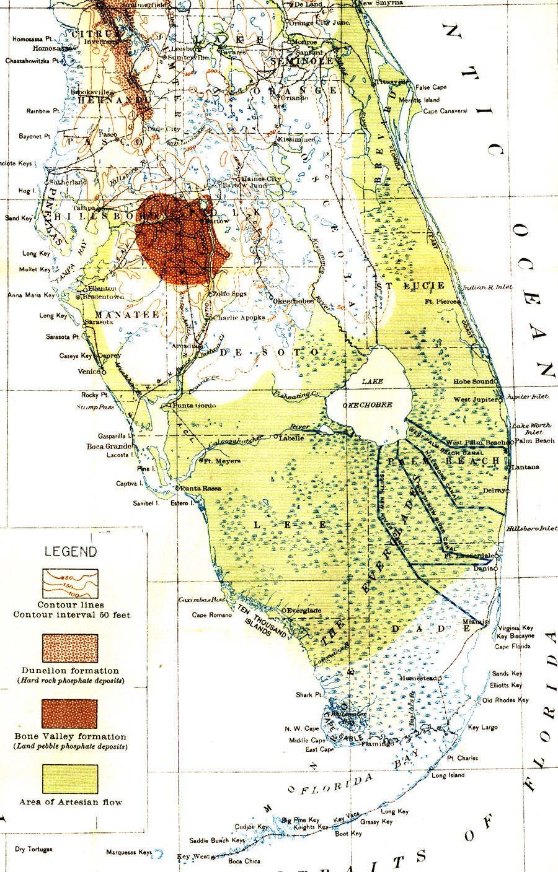 Map of Everglades Drainage, 1913