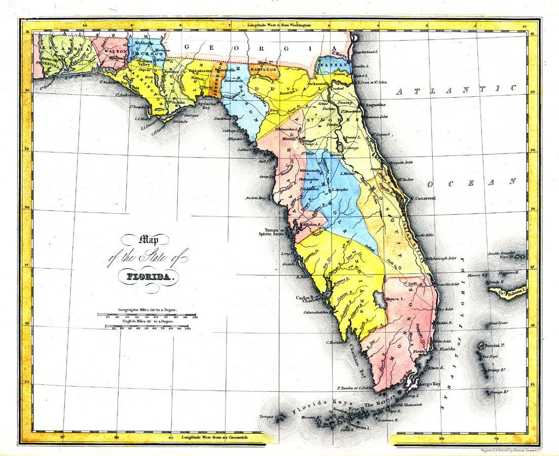Map Of The State Of Florida  AD - Florida map cities and towns