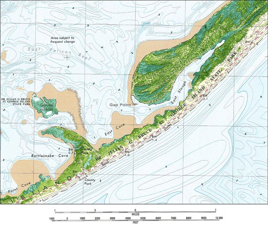 Saint George Florida Map.Saint George Island State Park 1982