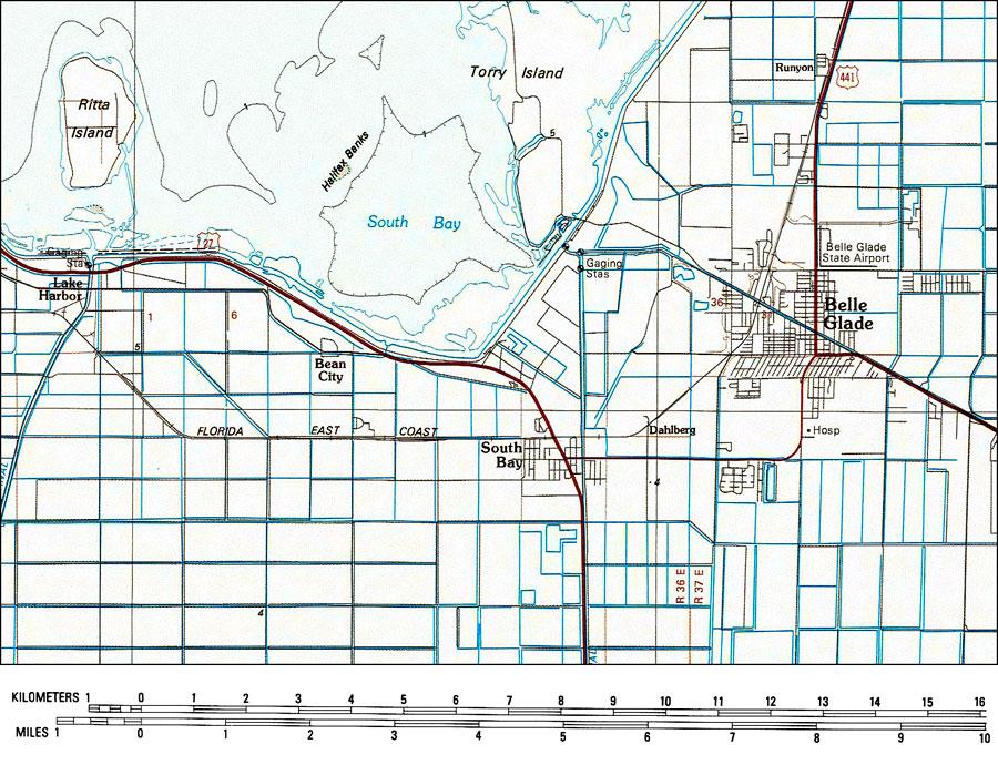 Belle Glade Florida Map.Belle Glade 1985