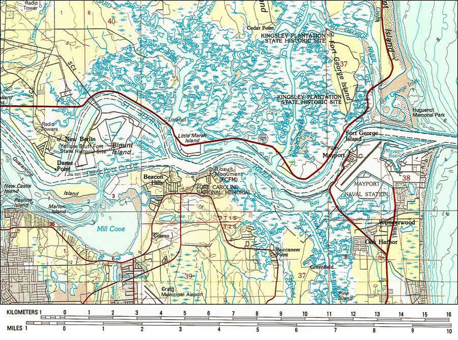 St. Johns River Mouth, 1980 on saint augustine river map, potomac river map, vicksburg river map, st. lawrence river on us map, saint joe river map, saint lawrence river map, oregon river map, south branch river map, saint clair river map, st. mary river florida on map, elizabeth river map, salem river map, saint francis river map, united states river map, lower john day river map, susquehanna river map, st. louis river map, ice in st. clair river map, ohio river map, saint john's florida map,