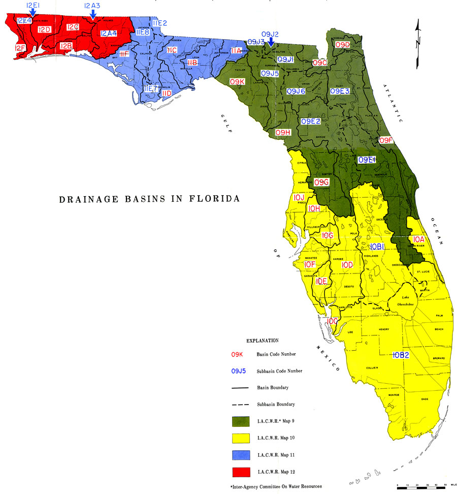 Drainage Basins In Florida - Us drainage basins map