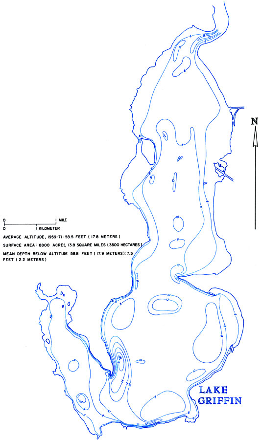Hydrology Of The Oklawaha Lakes Area Of Florida Lake Griffin - Map of florida lakes