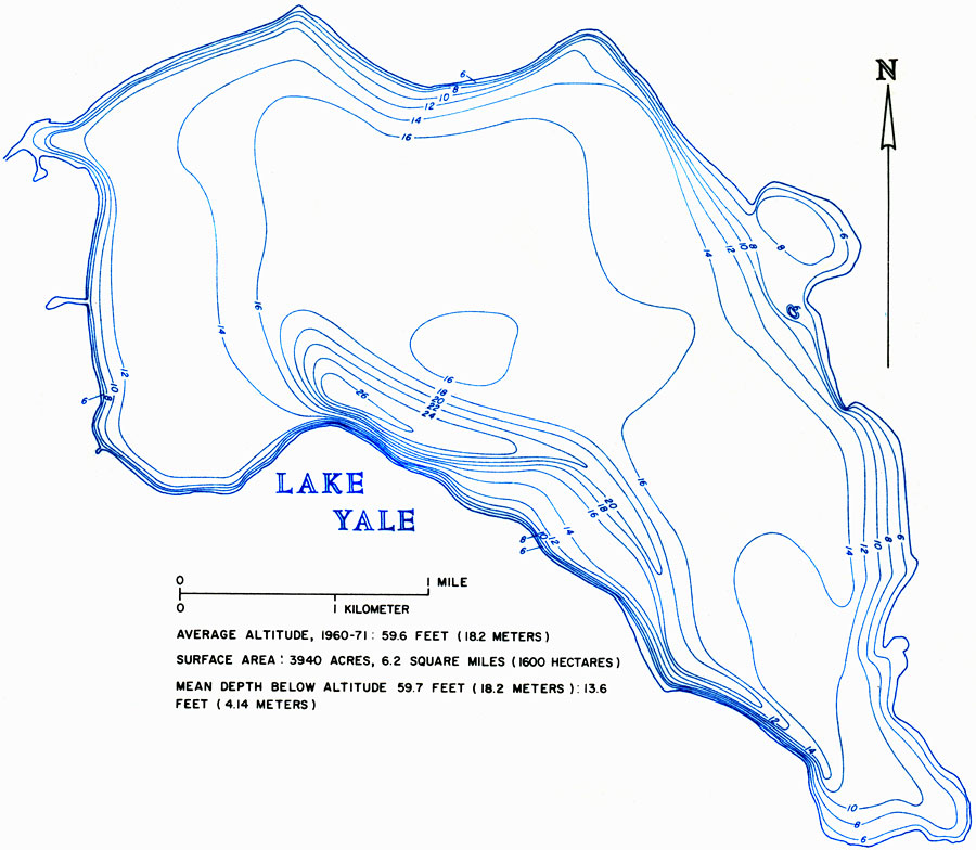 Hydrology Of The Oklawaha Lakes Area Of Florida Lake Yale - Map of florida lakes