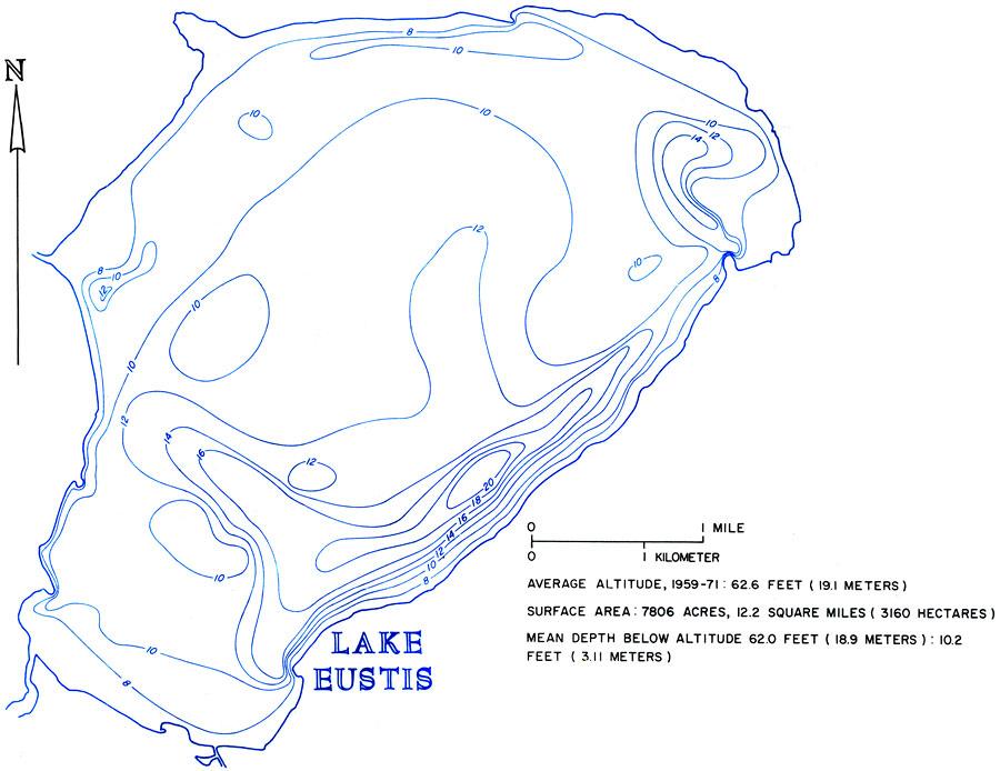 Eustis Florida Map.Hydrology Of The Oklawaha Lakes Area Of Florida Lake Eustis 1974