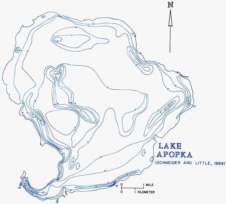 Hydrology Of The Oklawaha Lakes Area Of Florida Lake Apopka - Map of florida lakes