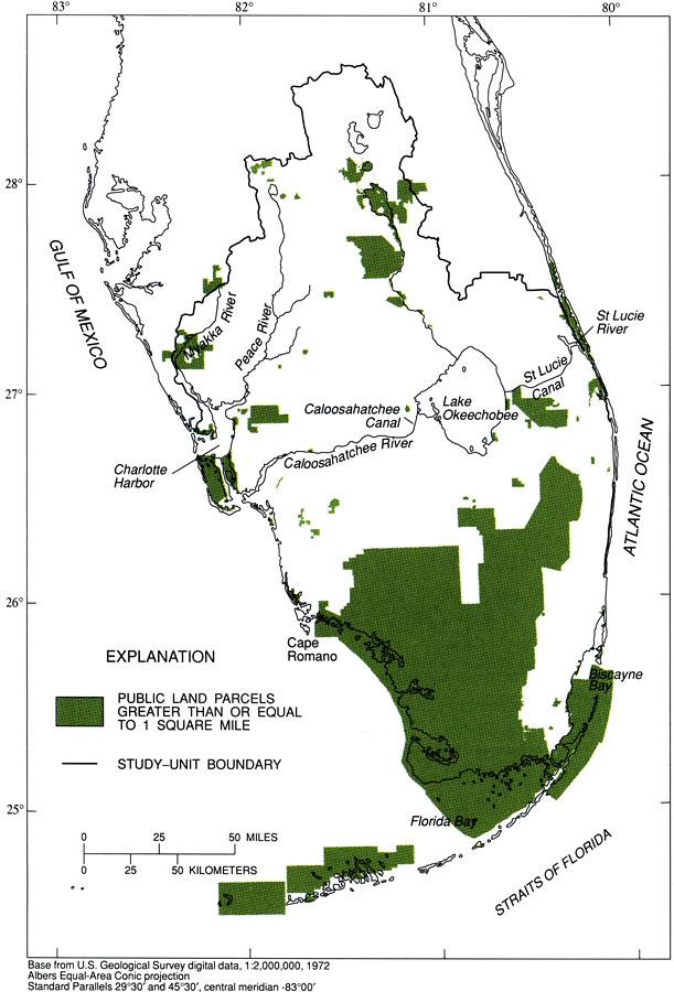 Public Lands In South Florida - Publi lands map us