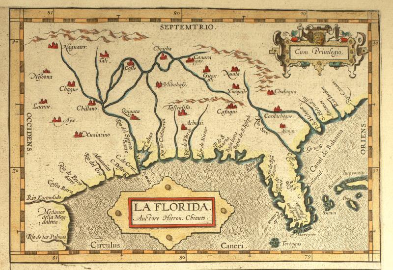 Maps Florida.La Florida 1584
